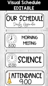 Visual Editable Schedule for the Classroom