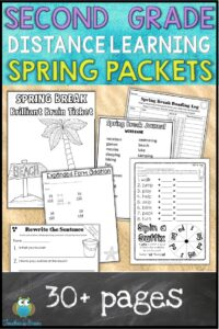 SECOND GRADE DISTANCE LEARNING PACKET