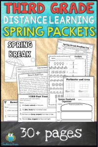 tHIRD GRADE HOME LEARNING PACKET