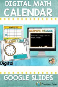Virtual Math Morning Calendar