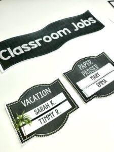 Classroom Jobs Chalkboard