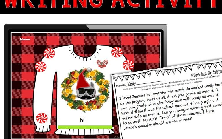ugly sweater Writing Activity