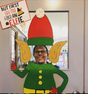 Elfie Picture Holiday Door