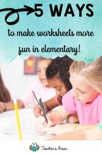 make worksheets more fun