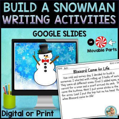 build a snowman writing