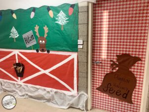 Rudolph the Red Nose Reindeer Door Decoration