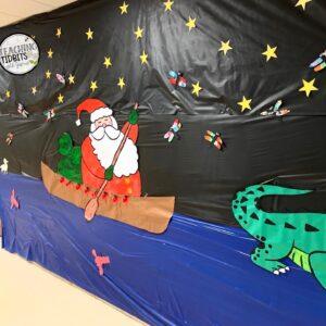 Cajun Christmas School Decorations