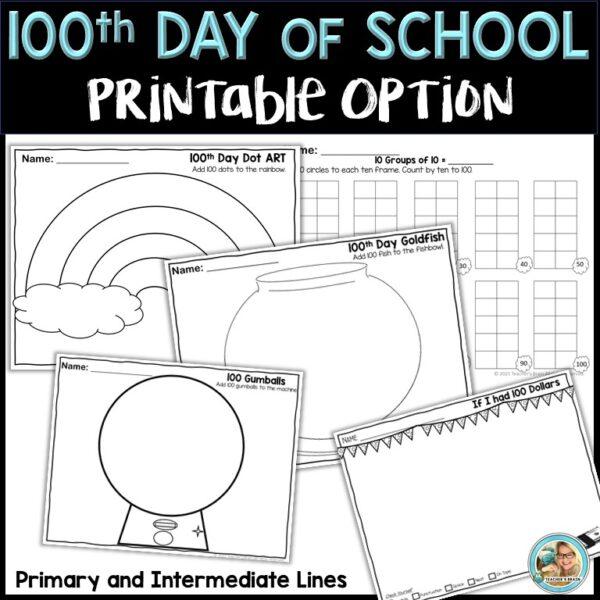 100th day google slides