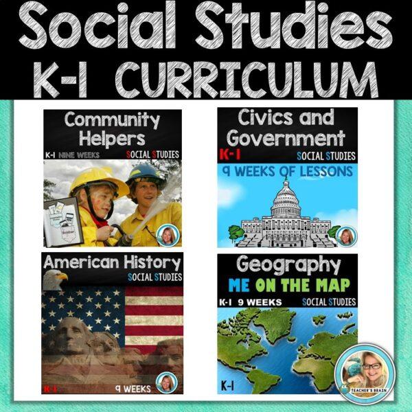 Social Studies K-1 Curriculum cover