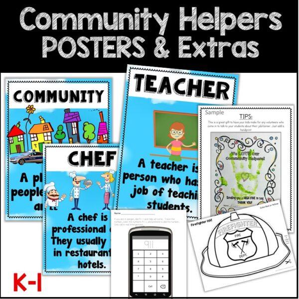 community Helpers kindergarten 1st grade