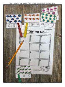 Numbers Kindergarten Math Centers