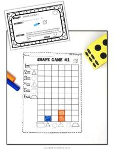 Math Centers 2D 3D Shapes
