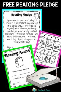 Free Reading Pledge Printables