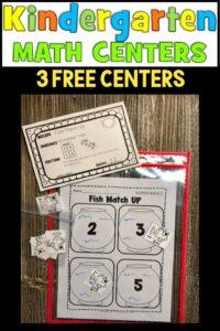 Free Kindergarten Math Centers