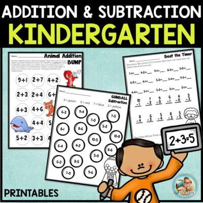 Addition and Subtraction Kindergarten