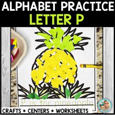 Letter P for Pineapple