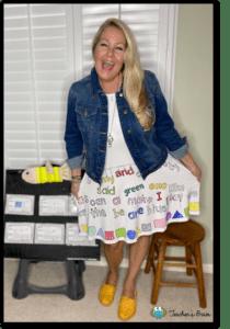 sight word dress idea